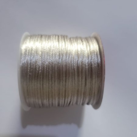 Cordão Cetim  1mm Prata