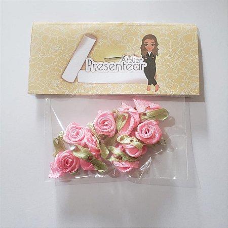 Flor de Rococó Rosa Bebe