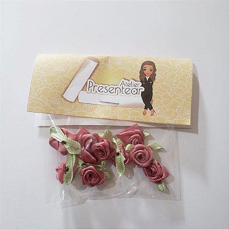 Flor de Rococó Rosa Antigo