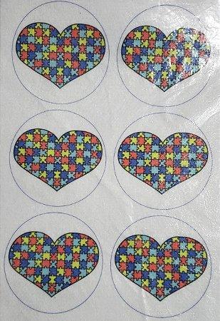 Porta copo /Chaveiro Autismo coração