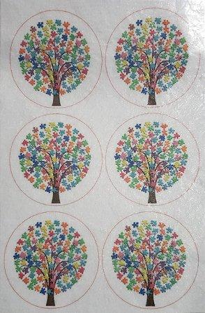 Porta copo /Chaveiro Autismo Árvore