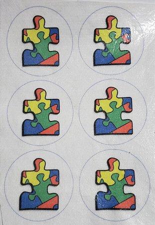 Porta copo /Chaveiro Autismo Quebra Cabeça