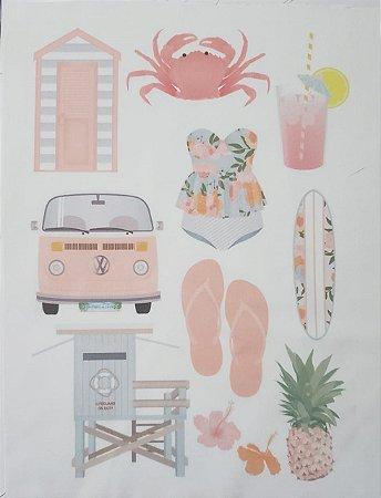 Kit Guirlanda Praia- verão salmão