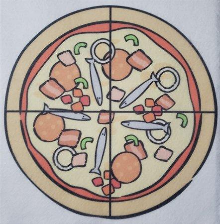 Livro Didático - Pizza fração 4