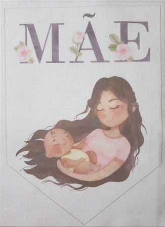 Flamula Dia das mães aquarela 1