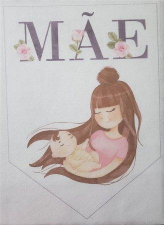 Flamula Dia das mães aquarela 3
