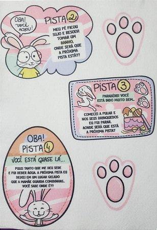 Caça aos ovos completo rosa