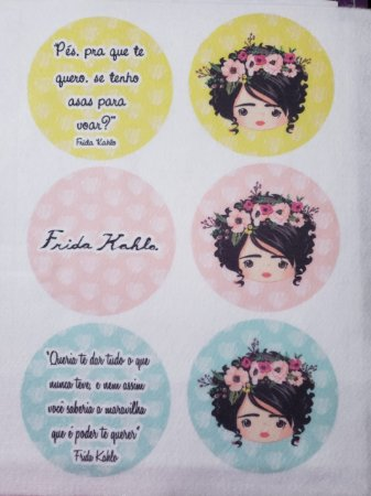 Porta copo / chaveiro / porta fone Frida 3