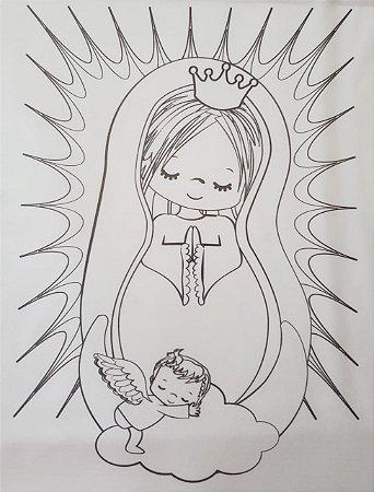 Nossa Senhora para colorir 2