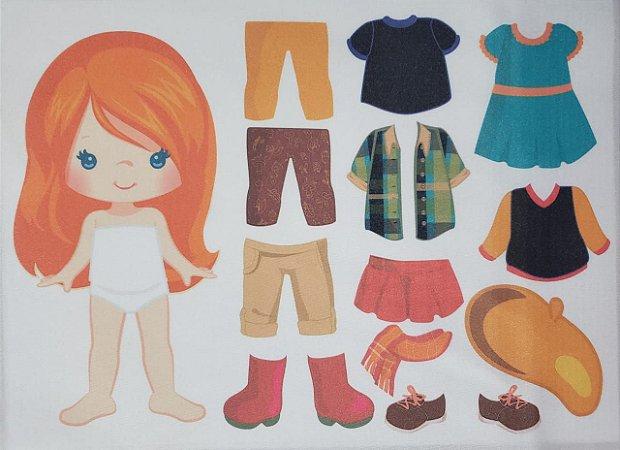 Menina de vestir cute 1