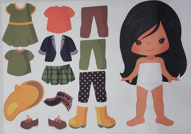 Menina de vestir cute 4