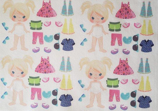Mini Menina de vestir cute 7