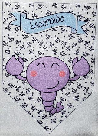 Flamula Signo com desenho Escorpião