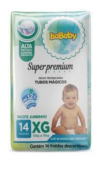 Fralda Super Premium Jumbinho XG 8 Pacotes Com 14 Unidades Isababy