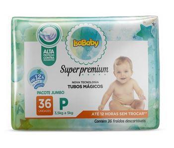Fralda Super Premium Jumbo P 8 Pacotes Com 36 Unidades Isababy