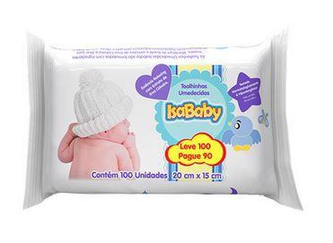 Toalha Umedecida Promo (Leve 100 Pague 90) 12 Pacotes Com 100 Unidades Isababy