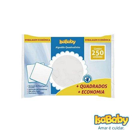 Algodão Quadradinho IsaBaby 250 Unidades ( Embalagem econômica )...