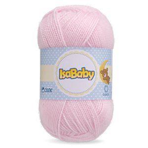 Lã IsaBaby Cisne 40g Rosa ( Trata-se de uma linha 100% acrílica )