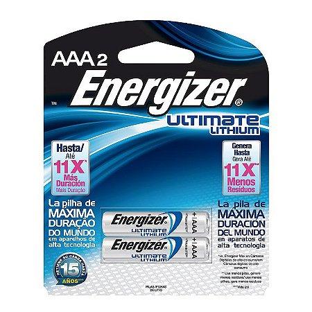 Pilha Energizer Lithium Palito AAA2 (Maior Duração, 7 Vezes Mais)