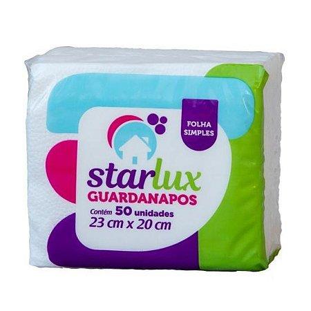 Guardanapo Folha Simples 23X20CM Contém 50 Folhas - Linha Starlux