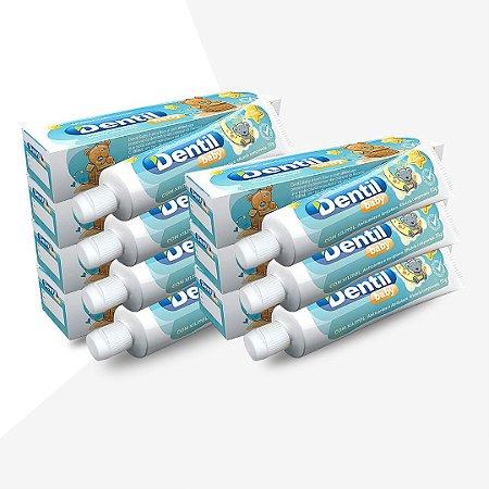 Creme Dental Dentil Baby 0-3 Anos S/Flúor C/Xilitol Tutti-Frutti 12 Unidades 50G