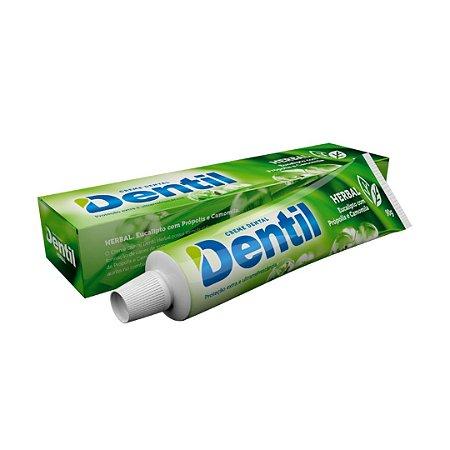 Creme Dental Dentil Herbal Eucalipto C/Flúor 12 Unidades 90G