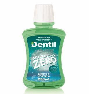Enxaguante Bucal Dentil 250ML Menta Zero Álcool C/Flúor 1 Unidade