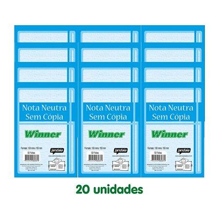Winner/Jandaia Nota Neutra 50 Folhas 20 Unidades