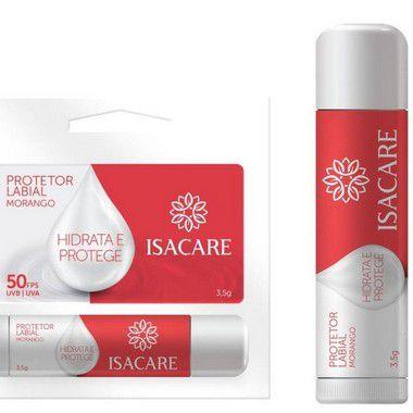 Isacare Protetor Labial FPS 50 Morango 12 Unidades