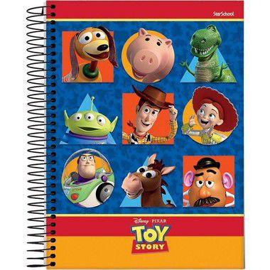 Starschool Caderno Espiral Universitário 1 Matéria Toy Story Capa Dura 80 Folhas com 4 Unidades