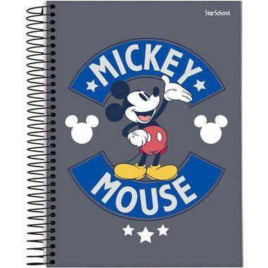 Starschool Caderno Espiral Universitário 10 Matérias Mickey Capa Dura 160 Folhas com 4 Unidades