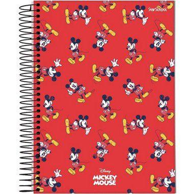Starschool Caderno Espiral Universitário 15 Matérias Mickey Capa Dura 240 Folhas com 2 Unidades
