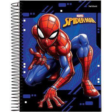 Starschool Caderno Espiral Universitário 20 Matérias Spider Capa Dura 320 Folhas com 2 Unidades