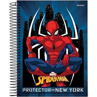 Starschool Caderno Espiral Universitário 1 Matéria Spider Capa Dura 80 Folhas com 4 Unidades