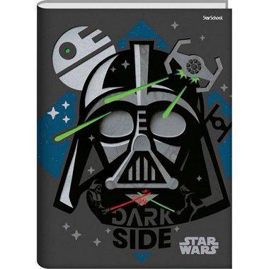 Starschool Caderno Universitário Costurado Star Wars Capa Dura 80 Folhas com 5 Unidades