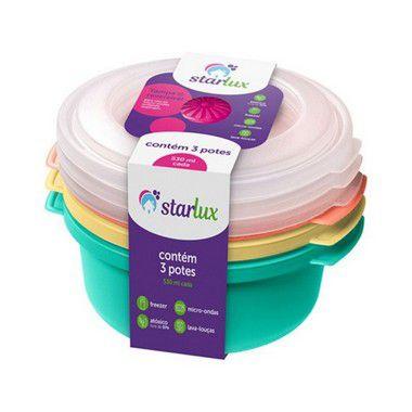 Starlux Ud Pote 530ML 3 Peças Cores sortidas Plastico 1 Unidade
