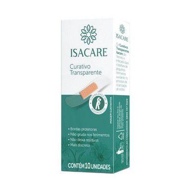 Isacare Curativo Transpartente 10 Pacotes Com 10 Unidades