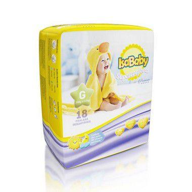 Isababy Fralda Premium Jumbinho G 8 Pacotes Com 18 Unidades