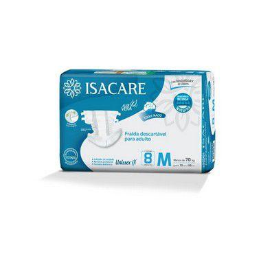 Isacare Fralda Premium Intensa Adulto Regular M 8 Pacotes Com 8 Unidades
