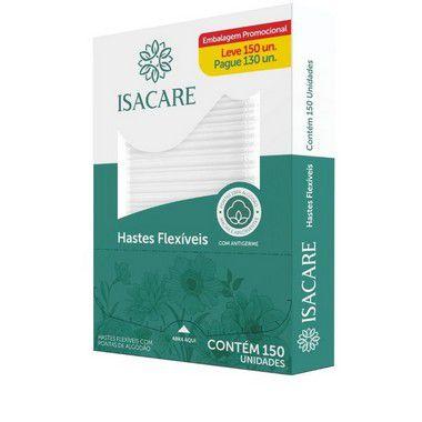 Isacare Haste Flexível Leve 150 Pague 130 - 4 Pacotes Com 150 Unidades
