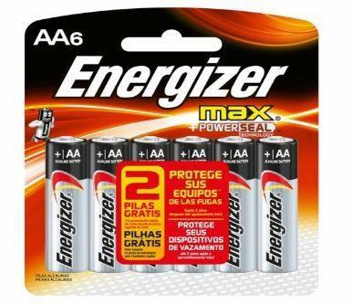 Pilha Energizer Max-Sm Pequena AA4 12 Cartelas Com 4+2 Unidades Gratis