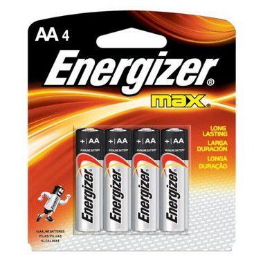Pilha Energizer Max-Sm Pequena AA4 1 Cartela Com 4 Unidades