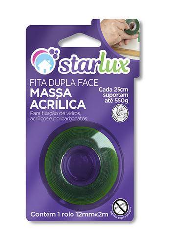Fita Dupla Face Acrilica 12MMX2M Verde 1 Unidade Starlux