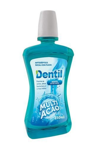 Enxaguante Bucal 250ML Multi Ação Menta C/Flúor 1 Unidade Dentil
