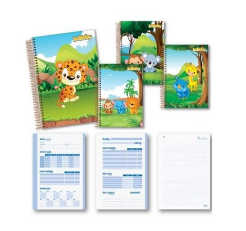 Caderno CD Esp. 1 Matéria 96F 4 Unidades Isababy Zoo