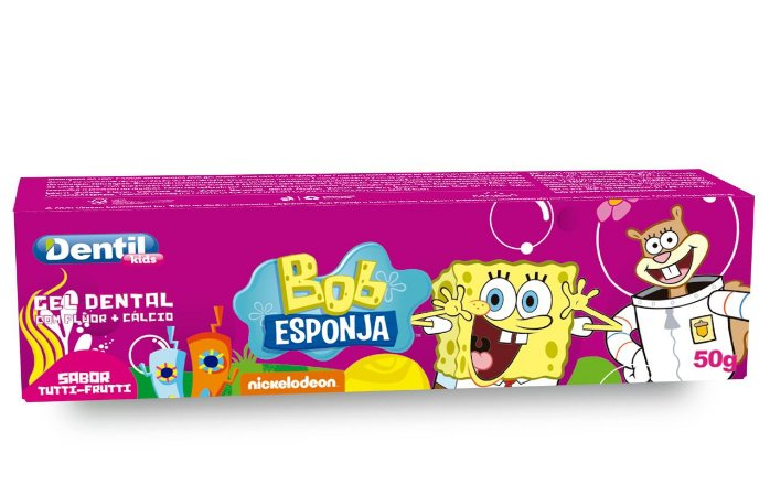 Creme Dental Kids Bob Esponja Tutti-Frutti 12 Unidades 50G Dentil
