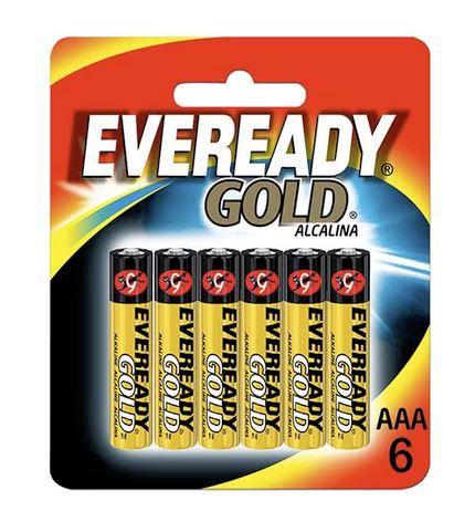 Pilha Alcalina Gold Palito AAA6 12 Cartelas Com 6 Unidades Eveready