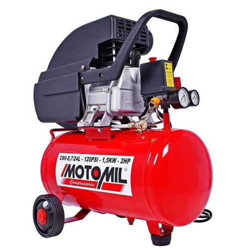 Compressor de Ar 24L 8,3bar Motomil CMI8,7/24L