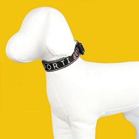 Coleira e Guia para cachorro do Corinthians - Louco por Ti