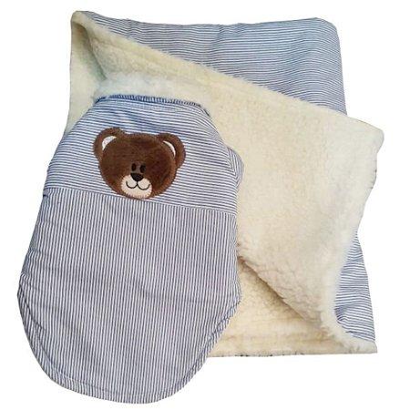 Blusa e Cobertor para Cachorro estampa Little Bear